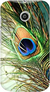 moto e back case cover ,Teal Peacock Feather Designer moto e hard back case cover. Slim light weight polycarbonate case with [ 3 Years WARRANTY ] Protects from scratch and Bumps & Drops.