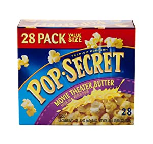 Pop Secret Movie Theater Butter Popcorn, 28 Count, 3.2 ounce bags