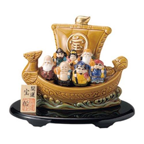 縁起物 開運七福神宝船 [18cm] 置物 インテリア かわいい カフェ 縁起物 業務用