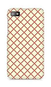 Amez designer printed 3d premium high quality back case cover for BlackBerry Z10 (Orange n Yellow Pattern3)