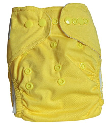 "TLI ""Premium Range"" Cloth Diaper (Plus 2 Inserts) - Color (Yellow)"