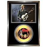 DAVID BOWIE - SIGNED FRAMED GOLD VINYL RECORD CD & PHOTO DISPLAY the next day