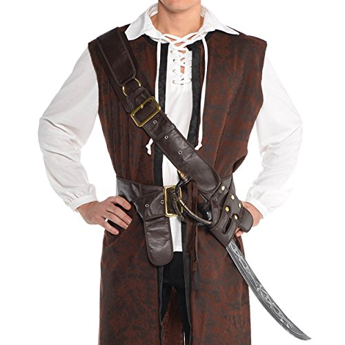 [Pirate Bandolier Belt Costume Accessory - Standard - Chest Size 42] (Bandolier Belt)