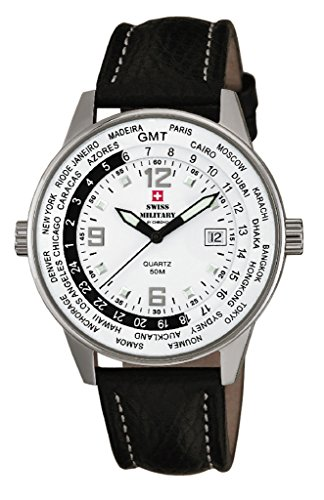 Swiss Military By Chrono Analogue White Dial Men's Watch SM34007.04