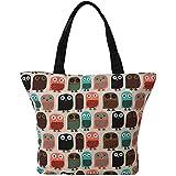 LATH.PIN Shopper Shoulder Bag owl Large Womens Shopping Ladies Tote Beach Shopping Travel Bag