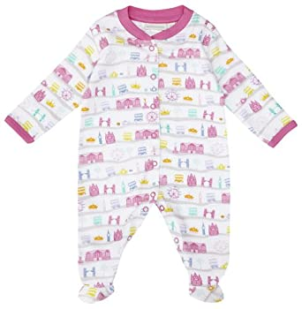 Amazon.com: JoJo Maman Bebe Baby Girls' London Sleepsuit