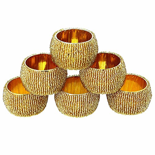 Pearl Paper Home Decor Stock Product India Napkin Rings: Premium Cotton Maroon Napkins And Gold
