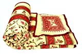 BUY CLUES Jaipuri Hand Block Mugal Print Pure Cotton Double Bed Quilt ,Rajai,Razai (Red, Double Bed Quilt )