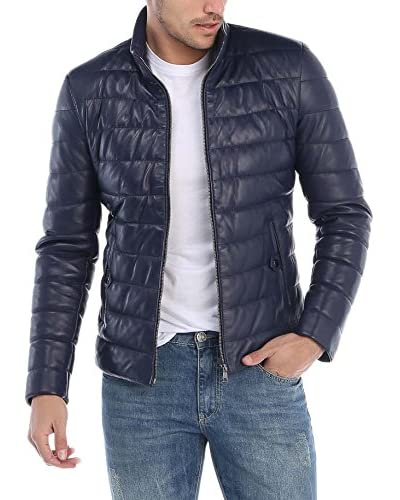 GIORGIO DI MARE Lederjacke Leather Jacket marine