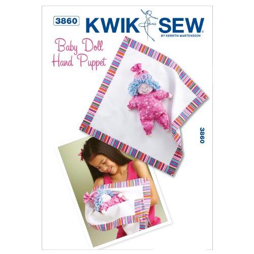 Kwik Sew K3860 Baby Doll Hand Puppet Sewing Pattern, No Size