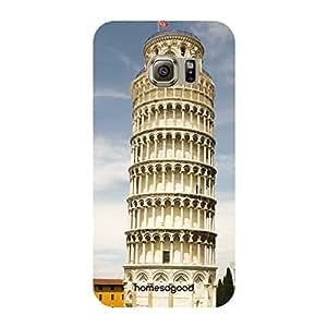 HomeSoGood Tower Of Pisa Multicolor 3D Mobile Case For Samsung S6 Edge ( Back Cover)