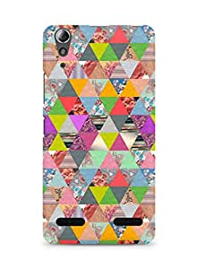 AMEZ designer printed 3d premium high quality back case cover for Lenovo A6000 (collage shapes colourfuk)