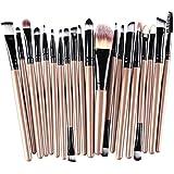 MELADY®20pcs Multi-function Gold+Black Pro Cosmetic Powder Foundation Eyeshadow Eyeliner Lip Makeup Brushes Sets