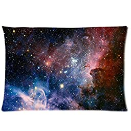 Galaxy Space Universe Two Sides Rectangle Zippered Pillowcase Pillow Cover 20x30 inches