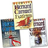 Bernard Cornwell Bernard Cornwell Grail Quest 3 books Pack Set Collection (Vagabond, Harlequin, Heretic) (Bernard Cornwell Grail Quest)