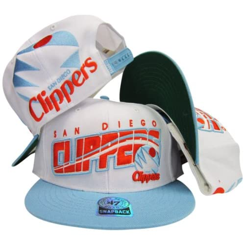 Amazon.com: San Diego Clippers White/Light Blue Adjustable