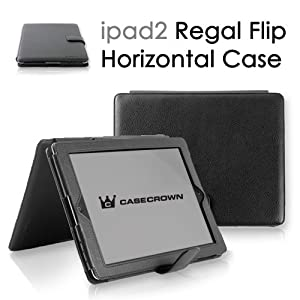 CaseCrown Regal Horizontal Case for iPad 2 - Black