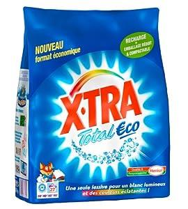 X Tra - Lessive en Poudre - Total Eco - Sachet 1,890 kg / 27 Lavages
