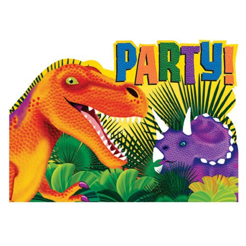 Prehistoric Dinosaurs Postcard Invitations 8ct
