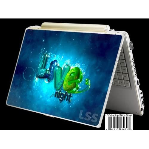 Laptop Skin Shop Laptop Notebook Skin Sticker Cover Art Decal Fits 13.3 14 15.6 16 HP Dell Lenovo Asus Compaq (Free 2 Wrist Pad Included) Love Night Floral