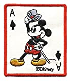51leUBYdPqL. SL160  Mickey Mouse Ace of Spade Poker Card Hats Off Disney Embroidered Iron On / Sew On Patch