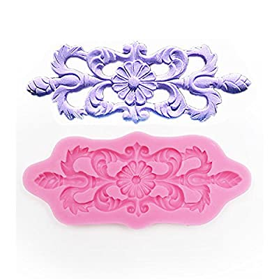 Anyana Vintage Flower Lace Decorative Pattern Silicone Fondant Mold Cake Decorating Pastry Gum Pastry Tool Kitchen Tool Sugar Paste Baking Mould Cookie Pastry