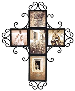 ce4005f6ef58 Cheapest! Fetco Home Décor Alton Collage 5 Opening Cross Luxury Frames