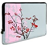 15 inch Notebook Laptop Computer / Apple MacBook Pro 15 Pink Sparse Floral Flowers Carrying Case Sleeve ~ K-Cliffs
