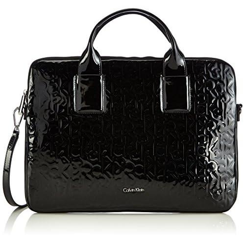 Calvin Klein Jeans Womens Maggie Laptop Bag Top-Handle Bags