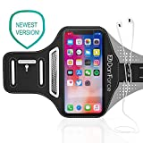 """IPhone X / 8 / 7 / 6S / 6 SPORTS Armband- Fingerprint Touch, Great for Running, Workouts or any Fitness Activity, Unique Hidden Pocket for Stores Cash, Cards and Keys. Fits smartphone 4.5""""-5.2"""""""