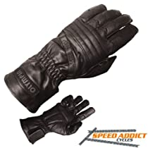 Olympia 410 Sport Gel Classic Motorcycle Gloves (Black, Medium)