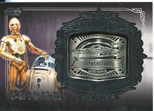 Star Wars Galactic 2 file, colore: azzurro, MD-21 C-3PO & R2-D2