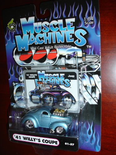Muscle Machines 41 Willys Coupe Metallic Baby Blue by Funline - 1