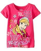 Disney Little Girls' Frozen Radiant Heart Short-Sleeve Shirt