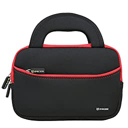 Evecase Neoprene Sleeve Case Bag for Express Y88X 7-inch Kids / Dragon Touch Android Tablet - Black with Handle and Accessory Pocket