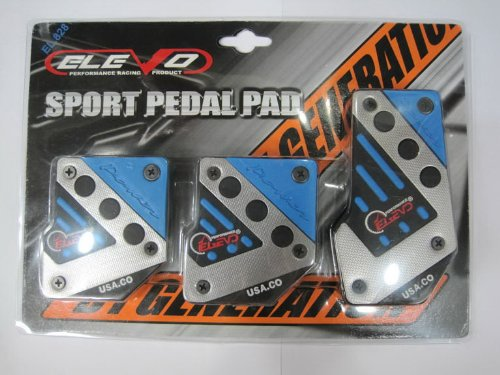 Elevo - Jet Blue Racing Pedal Covers Manual , Car Pedal Set in Automotive