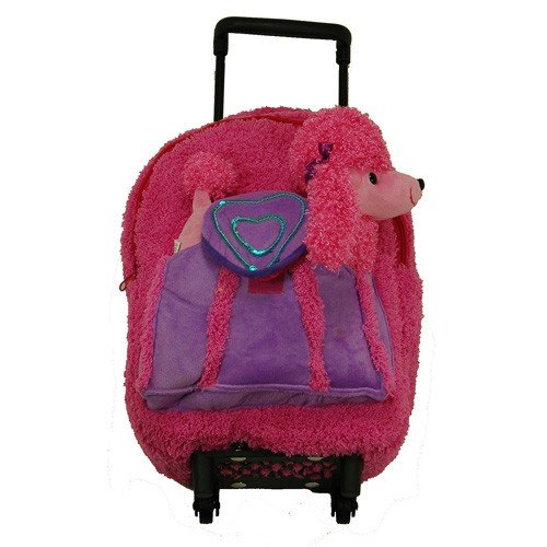 Pink Poodle Backpack & Rollerboard With Removable Animal