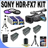 Sony HDR-FX7 3-CMOS Sensor HDV High-Definition Handycam Camcorder with 20x Optical Zoom + 3 Extended Life 970L Batteries + Ac/Dc Charger + 3 Piece Multicoated Filter Kit + 10 Dv Tapes + Shock Proof Deluxe Case + Full Size Tripod + Master Works Producing DVD + Accessory Saver Kit & More!!!