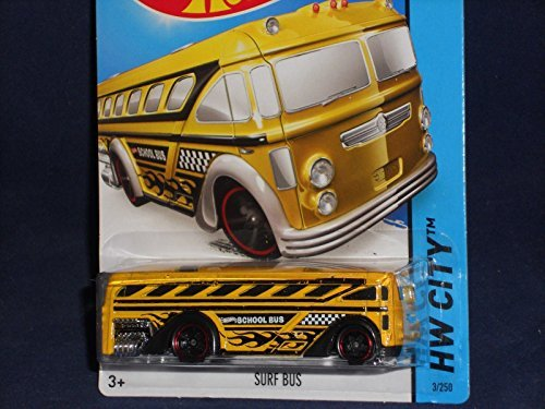 2014 Hot Wheels Hw City 3/250 - Surf Bus (School Bus)