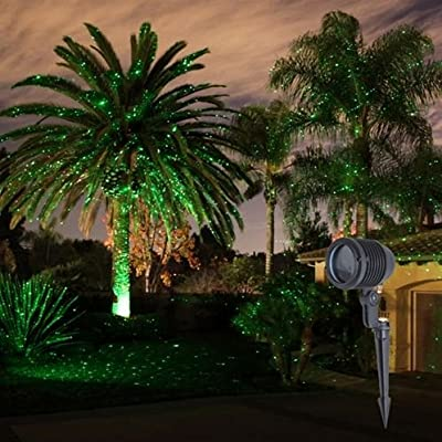 spright green laser starfield landscape light firefly