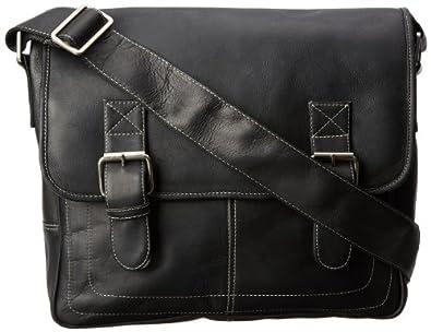 Latico Men's Basics Adventurer Messenger Bag, Black, One Size