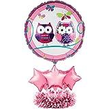 Creative Converting Balloon Centerpiece Kit, Owl Pal Birthday