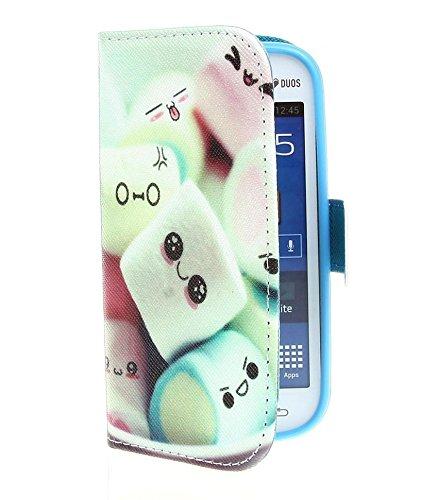 Cuir Coque Strass Case Etui Coque étui de portefeuille protection Coque Case Cas Cuir Swag Pour Samsung Galaxy Trend Lite S7392 S7390 C16