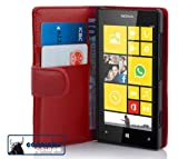 Cadorabo ®! Nokia Lumia 520 Leather wallet Book Style in red