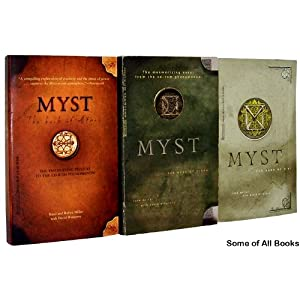 Three of the Many Books that Make Up the History of the Myst Universe