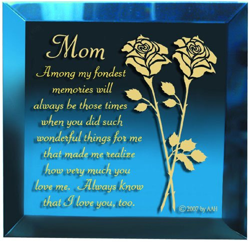 Magique RFEB404 Keepsakes - Treasures - Easel Backed - Blue - Mom