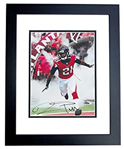 Desmond Trufant Autographed Hand Signed Atlanta Falcons 8x10 Photo BLACK CUSTOM FRAME by Real Deal Memorabilia