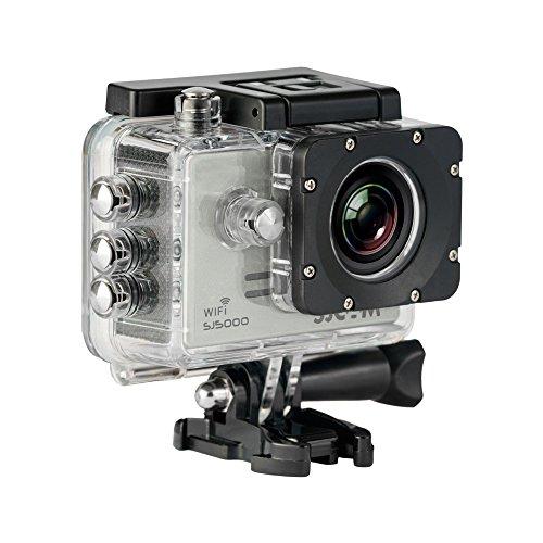 SJCam SJ5000 WiFi (versión española) - Videocámara deportiva (LCD 2.0'', 1080p 30 fps, sumergible hasta 30 m) color plata
