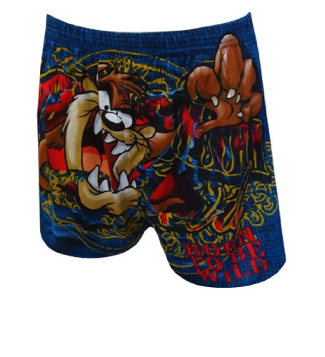 Looney Tunes Taz Born To Be Wild Boxer Shorts For Men (Small)