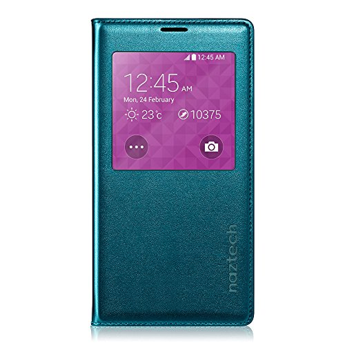Naztech Samsung Galaxy S5 Intelligent View Cell Phone Case - Teal